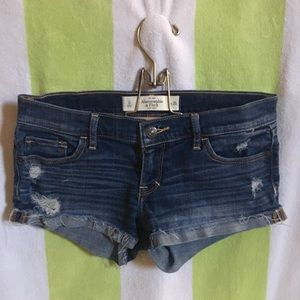 Abercrombie and Fitch Distressed Denim shorts